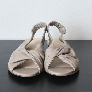 Gidigio Twist Front Leather Slingback Sandals